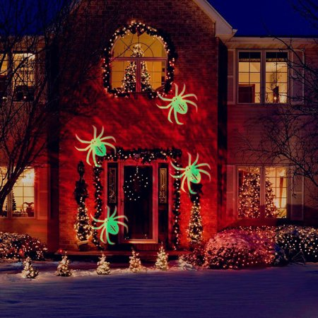 Festival Projector Lights with Spider Pat, Led Projector Light Party lights Waterproof Landscape Spotlight for Valentine's Day Birthday  Theme Party Home Christmas Halloween Decorations