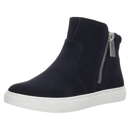 Kenneth Cole New York Women's Kiera High Top Sneaker Double Zip Suede Fashion Driving Shoes High Top