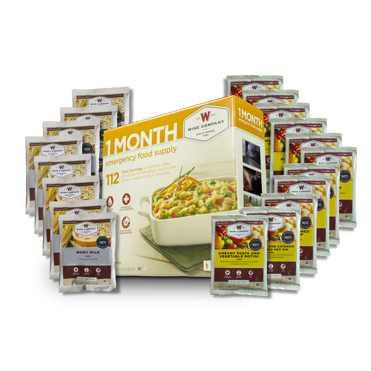 Wise Foods 1 Month Supply Pack (112 Servings)  sc 1 st  Walmart & Wise Foods 1 Month Supply Pack (112 Servings) - Walmart.com