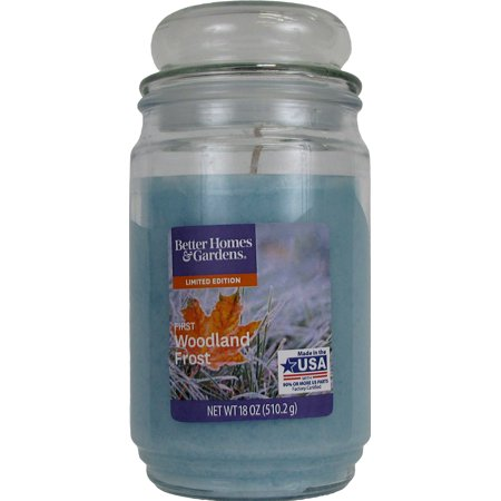 Better Homes And Gardens Jar Candle, First Woodland Frost, 18 oz