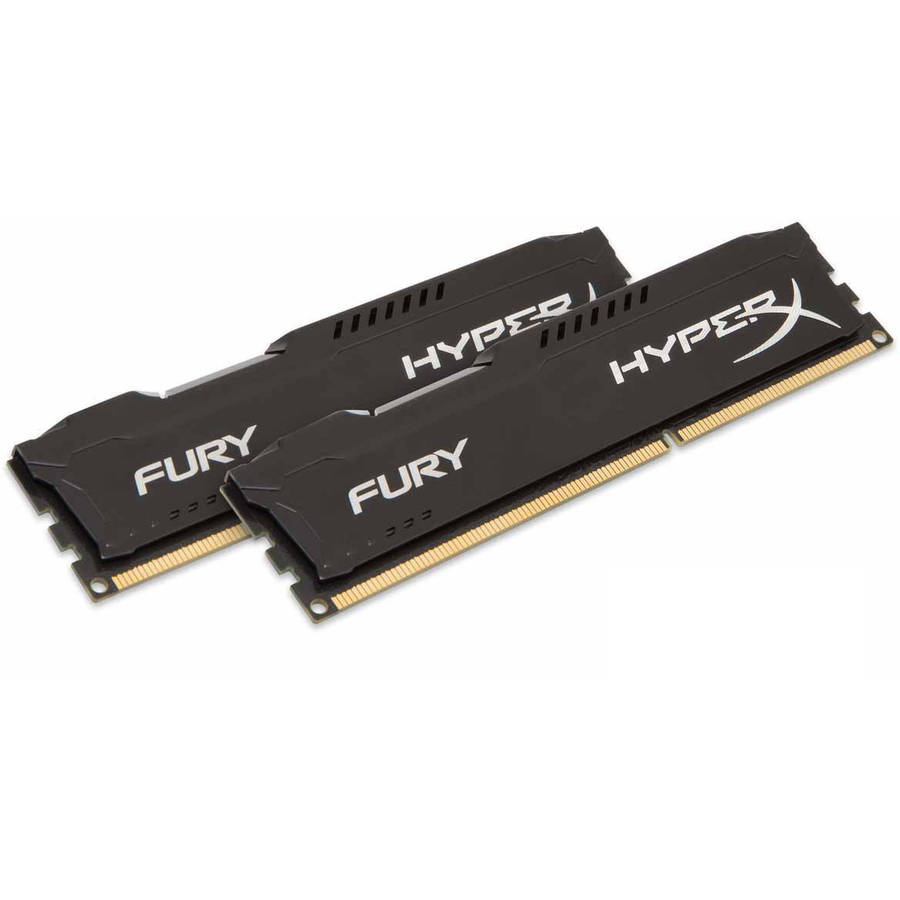 Kingston 8GB 1600MHz DDR3 Non-ECC CL10 DIMM (Kit of 2) HyperX FURY Black Series Memory Module