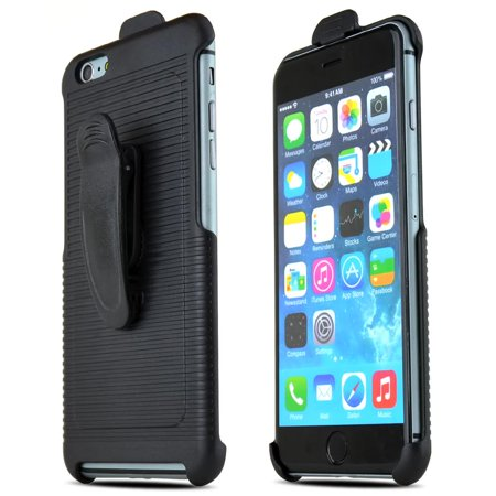 Black Holster w/ Swivel Belt Clip Made for Apple iPhone 6 Plus (5.5 inch) - Perfect w/ No Case