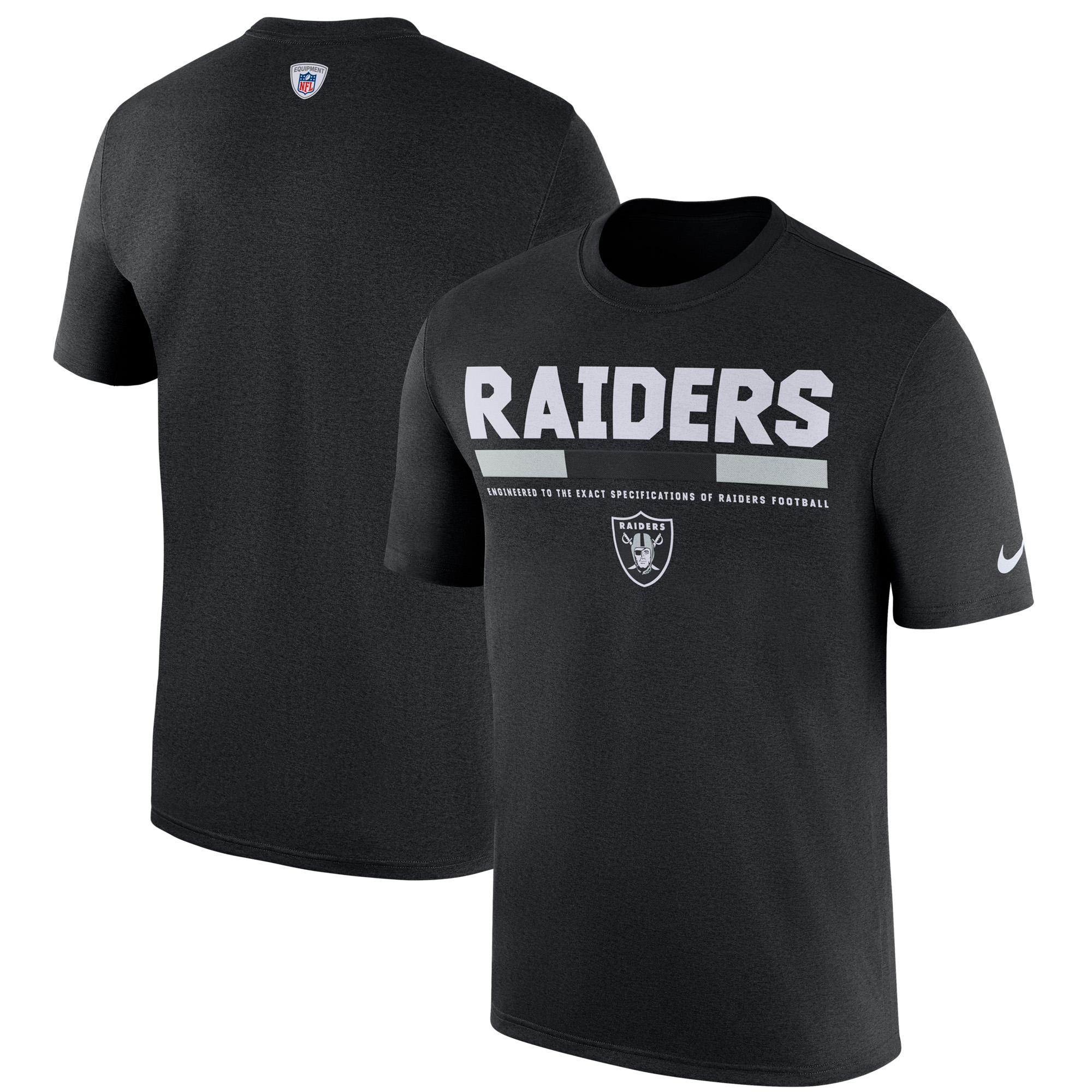 Oakland Raiders Nike Sideline Legend Staff Performance T-Shirt - Black