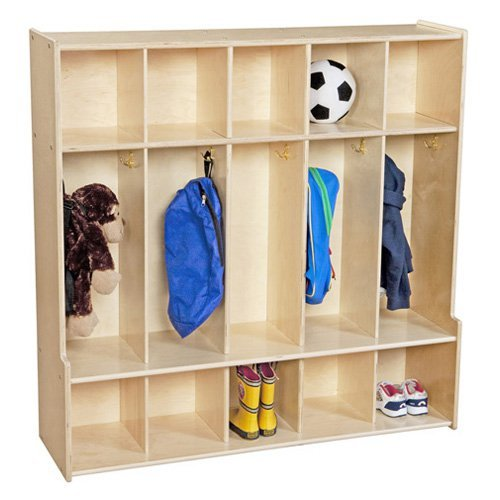 Wood Designs Contender 47 in. 5 Section Seat Locker