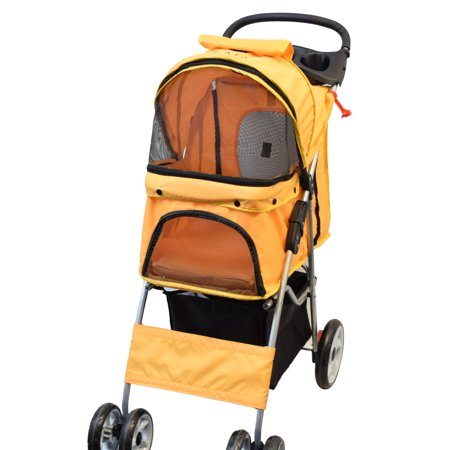 VIVO Four Wheel Pet Stroller / Cat & Dog Foldable Carrier Strolling