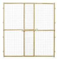 Wood Pet Gate High New Patented Latch Wire Mesh Expands