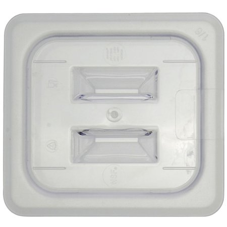 - Sixth Size Notched Cover With Handle For Cold Food Pans Translucent