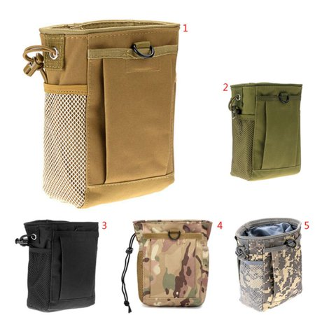 SUPERHOMUSE Useful Military Molle Ammo Magazine Dump Drop Reloader Utility Hunting Rifle Pouch Bag