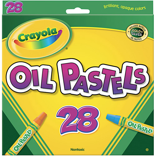 Crayola Oil Pastels, 28-Color Set, Assorted