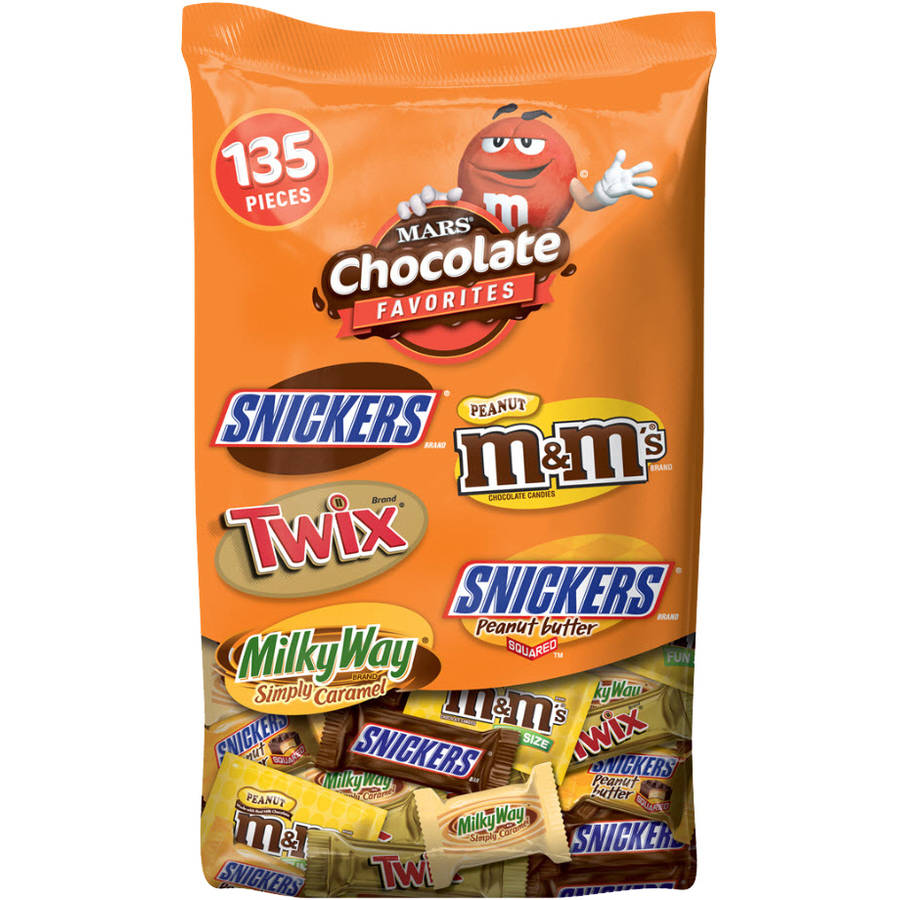 Mars Chocolate Favorites Peanut & Caramel Candy Halloween Variety Pack, 135 count, 69.8 oz
