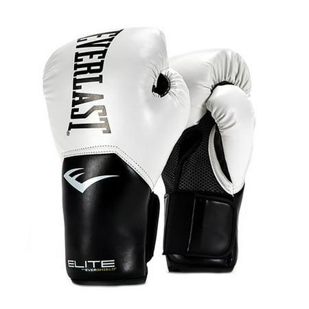 Everlast Elite Pro Style Leather Training Boxing Gloves Size 12 Ounces, White - Balloon Boxing Gloves