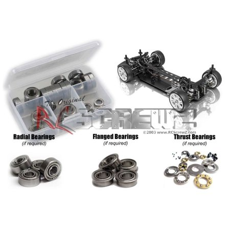 RC Screwz Metal Shielded Bearing Kit for Xray T2 2009 Euro Spec #xra025b