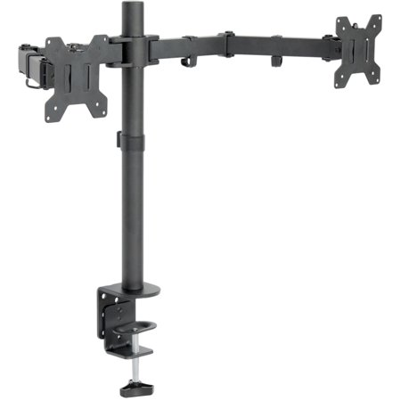 - VIVO Dual LCD Monitor Desk Mount Stand Heavy Duty Fully Adjustable fits 2 Screens up to 27