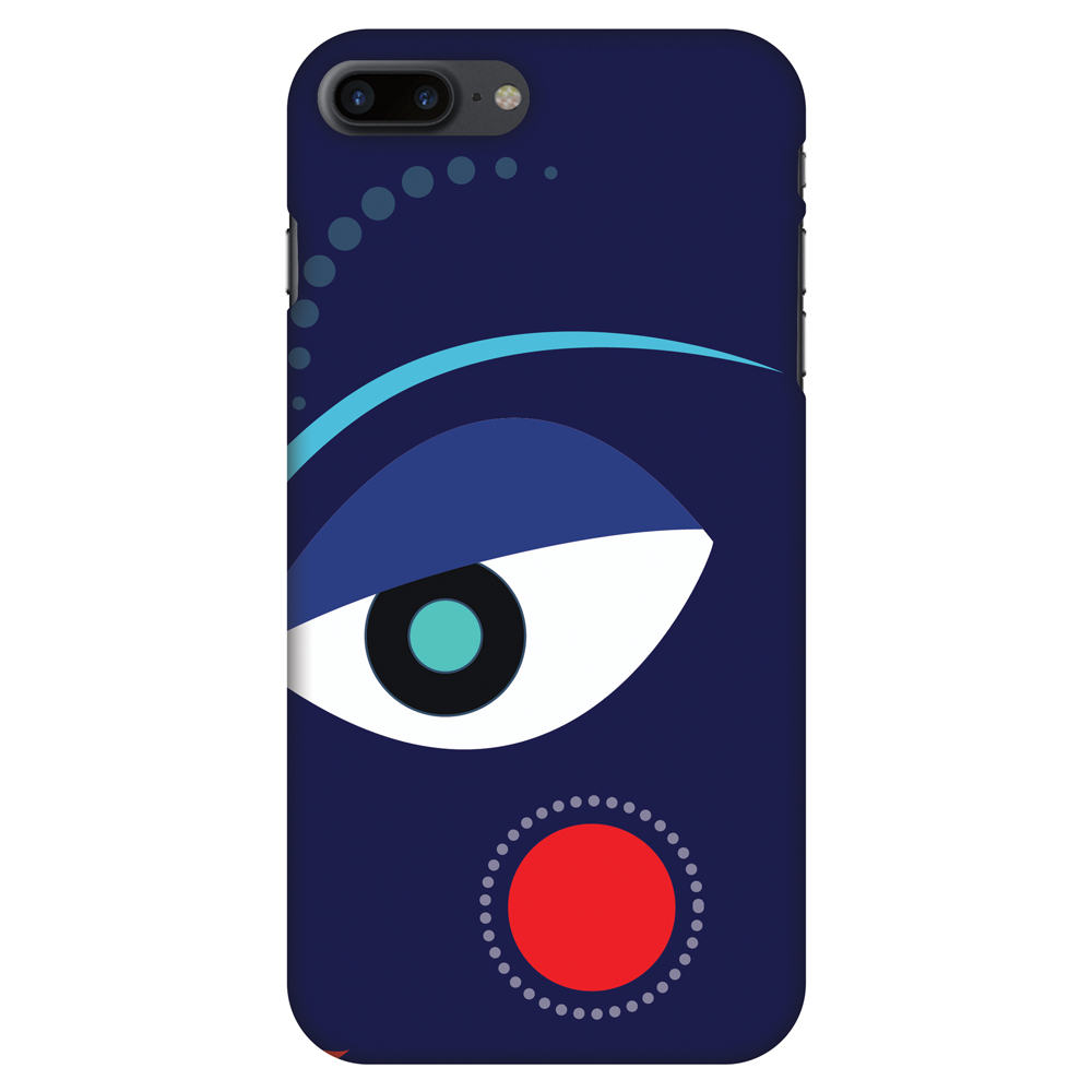 iPhone 8 Plus Case - Divine Goddess - Blue, Hard Plastic Back Cover. Slim Profile Cute Printed Designer Snap on Case with Screen Cleaning Kit