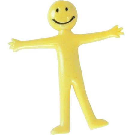 200 Pcs Stretchy Smiley Yellow Sttretchy Men Great Kids Party Loot Bag Fillers - Homemade Halloween Loot Bags