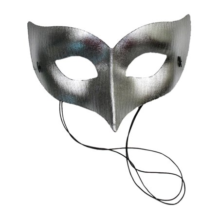 Unisex Mask Fabric Mystique Costume Masquerade Venetian Face Mask Gold Silver Color: Silver Sizes: One Size