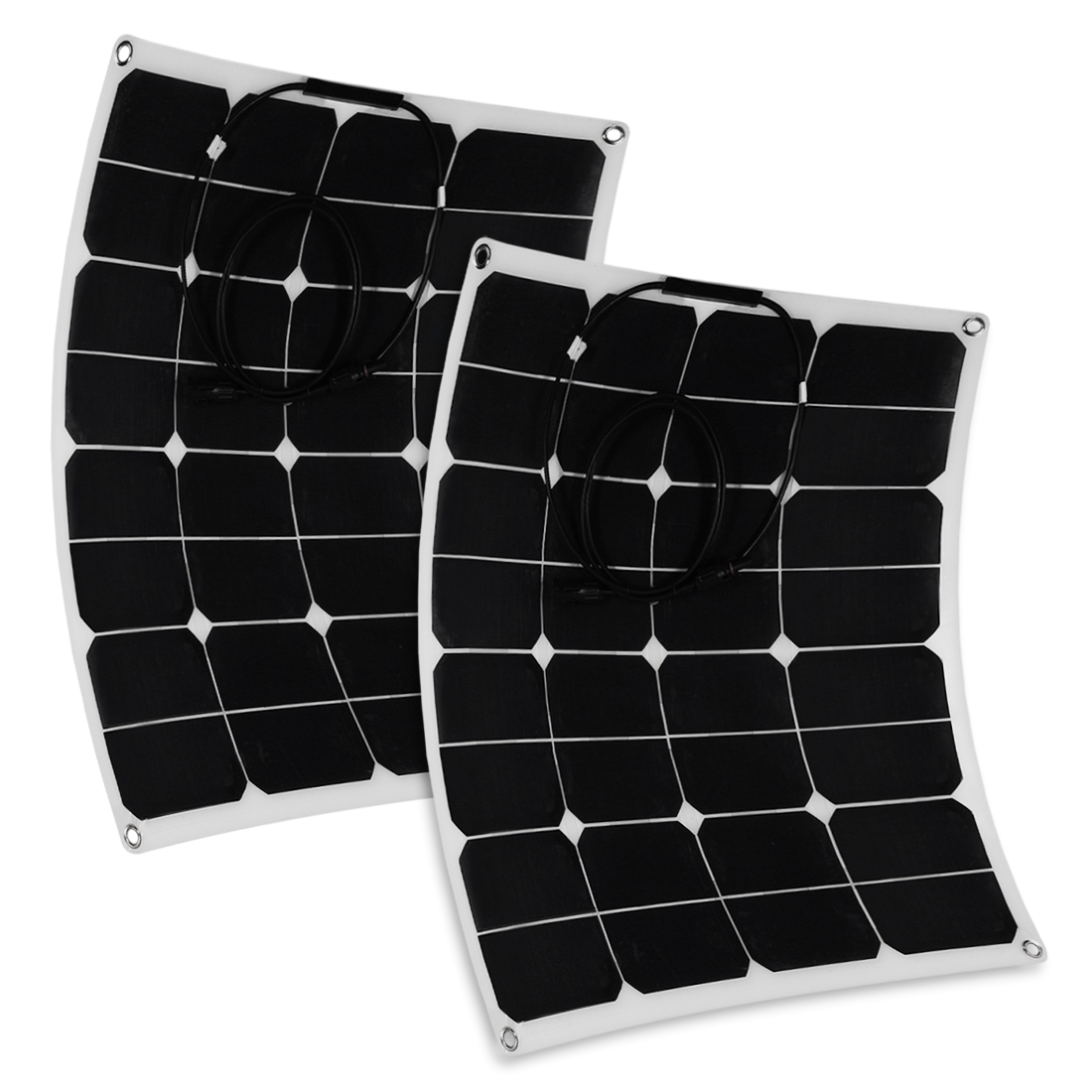 50W Solar Panel Monocrystalline Off Grid 12V RV Marine Boat with MC4 Connector - image 7 de 7
