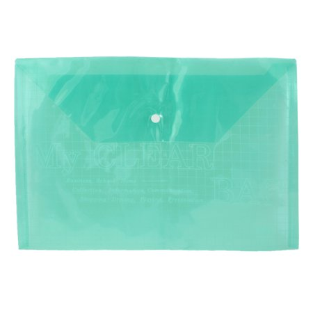- Unique Bargains School Student Checkered Print Green Clear A4 Paper File Case Bag Folder Holder