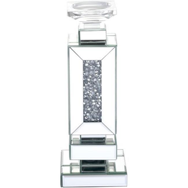 Elegant Lighting MR9203 13.5 in. Modern Tall Royal Cut Crystal Candleholder, Silver - image 1 de 1