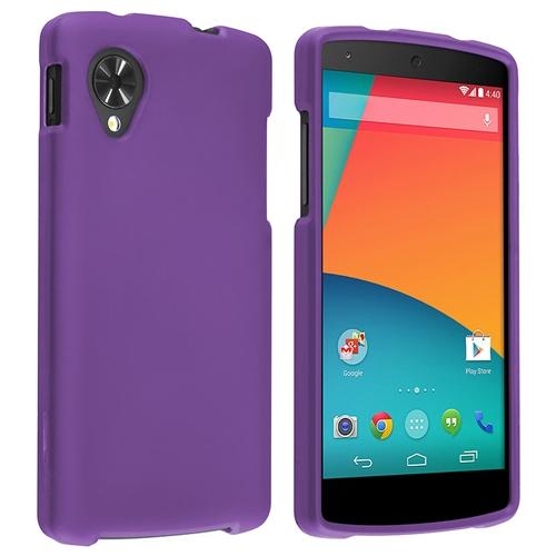 INSTEN Purple Snap on Rubber Coated Hard Cover Case For LG Nexus 5 D820
