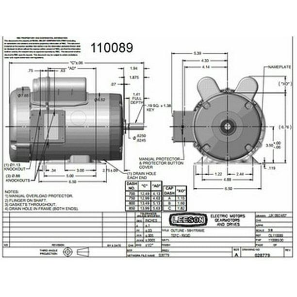 1 5 Hp 1725 Rpm 56 Frame Tefc Farm, Leeson 5hp Motor Wiring Diagram