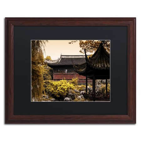 Acetate Temples Frame - Trademark Fine Art 'Golden Temple' Matted Framed Art by Philippe Hugonnard