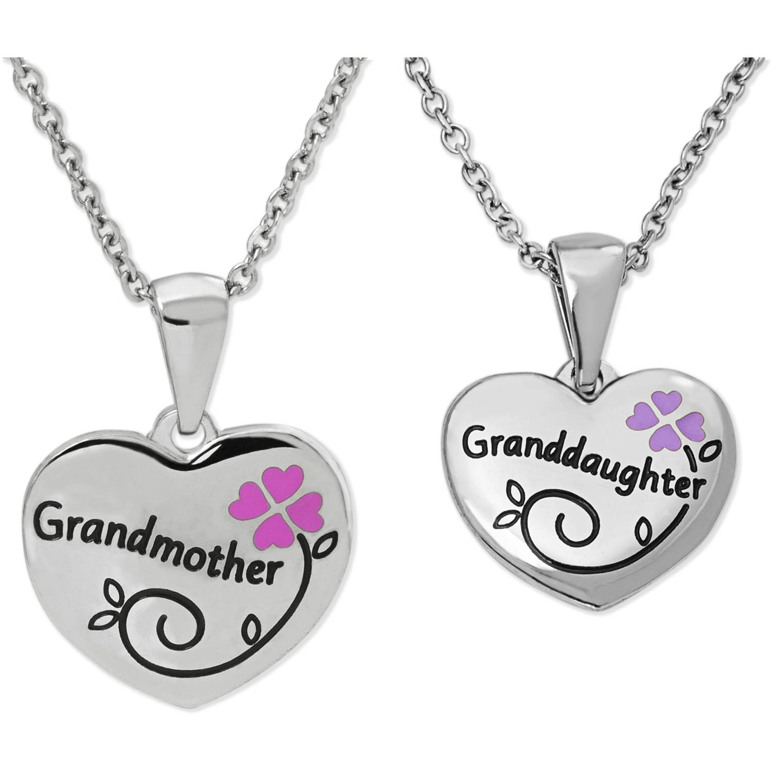 Connections from Hallmark Girls' Stainless Steel Grandmother/Granddaughter Breakaway Pendant Set