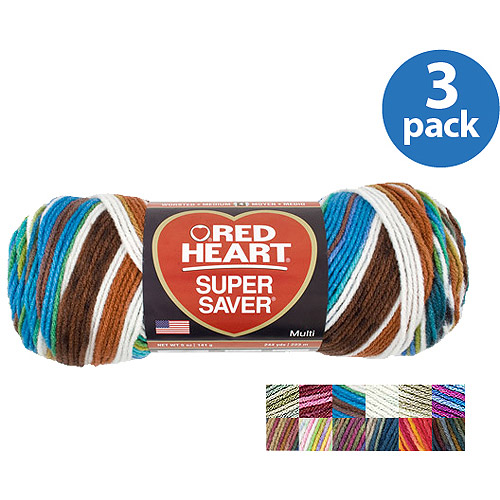 Red Heart Super Saver Yarn, Available in Multiple Prints, 5 oz