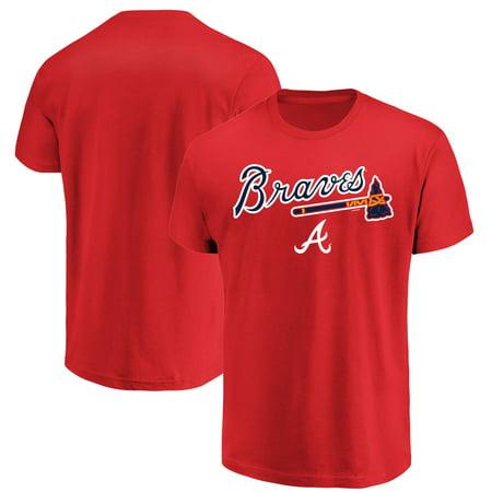 - Men's Majestic Red Atlanta Braves Bigger Series Sweep T-Shirt