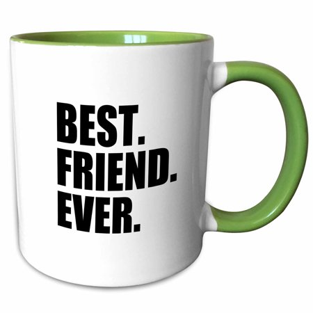 3dRose Best Friend Ever - Gifts for BFFs and good friends - humor - fun funny humorous friendship gifts - Two Tone Green Mug,