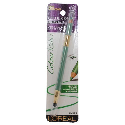 L'Oreal Colour Riche Wood Pencil Eyeliner, Sea Green 940 by L'Oreal Paris