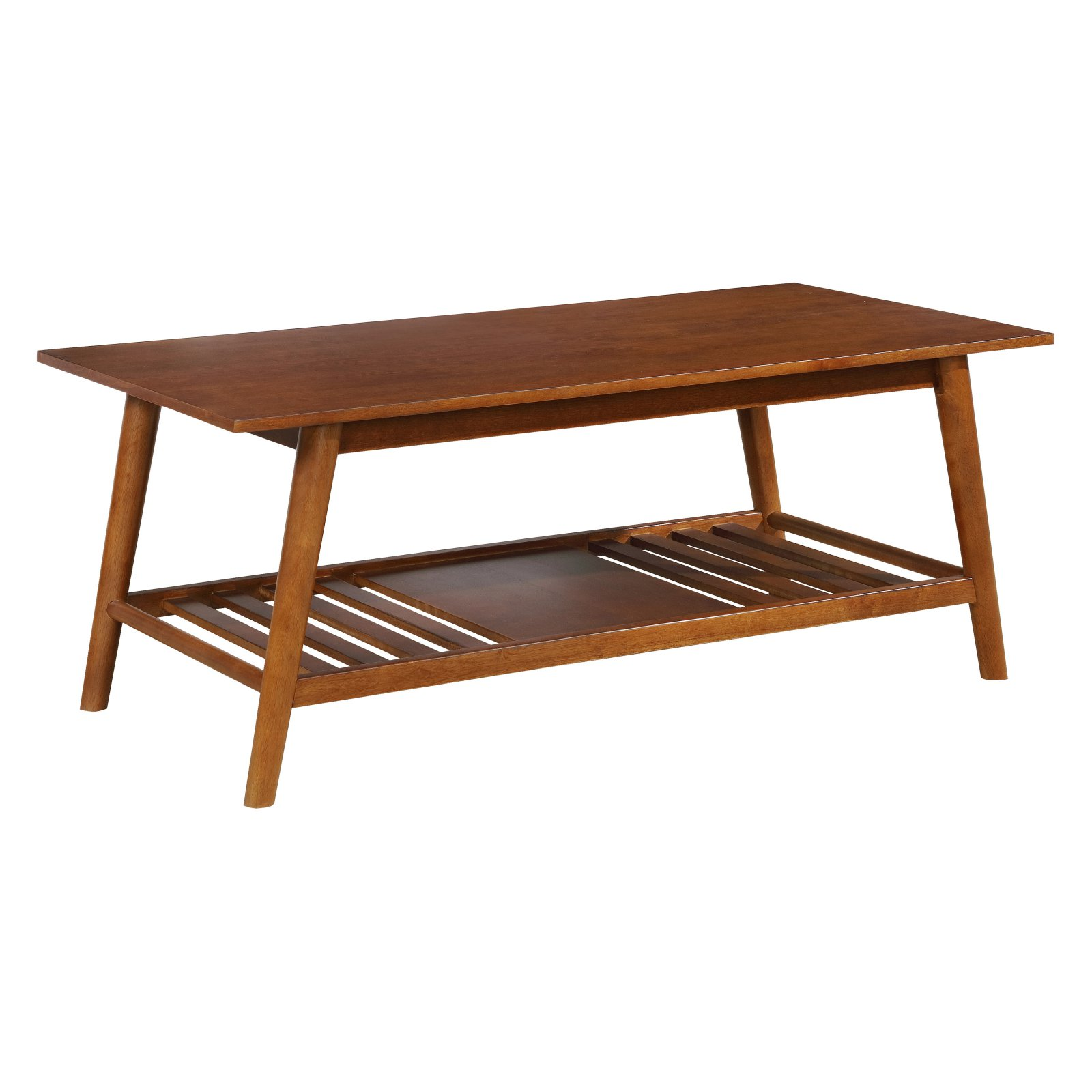 Linon Charlotte Coffee Table, Brown, 18.5 inches Tall