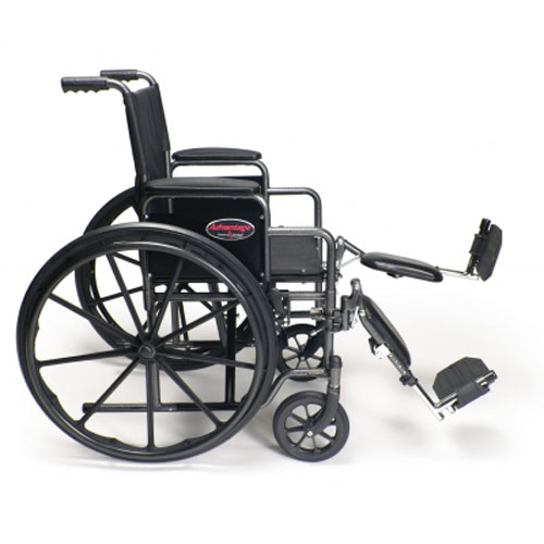 Graham Field Advantage Wheel Chair 18 X 16 In, Fixed Full Arm And Swing Away Footrest, 1 Ea