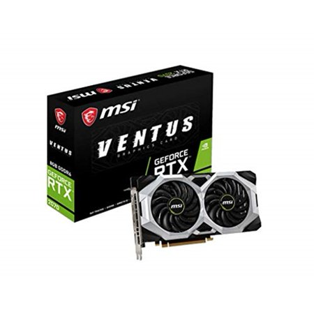 MSI GeForce RTX 2070 VENTUS 8G GeForce RTX 2070 Graphic Card - 1620MHz  Boost Clock - 8GB GDDR6 - PCI Express 3 0 x16 - plus free Wolfenstein: