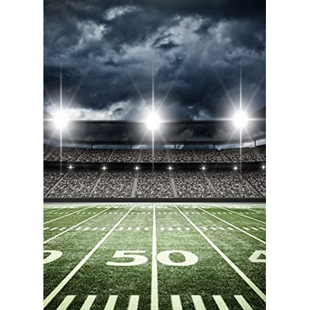 HelloDecor Polyster 5x7ft sports football soccer stadium themed for backdrop party backdrops