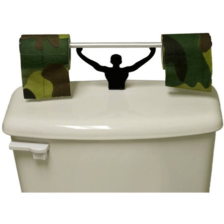 Fairly odd novelties camouflage toilet paper with strong man holder military camo gift set - Strongman toilet paper holder ...