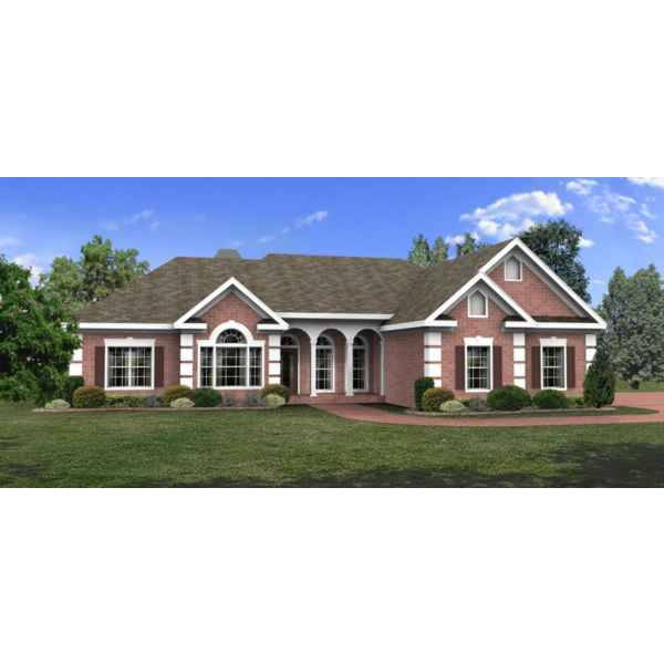 TheHouseDesigners-6243 Colonial House Plan with Basement Foundation (5 Printed Sets)