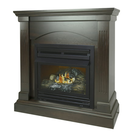 Pleasant Hearth 36 in. Natural Gas Compact Tobacco Vent Free Fireplace System 20,000