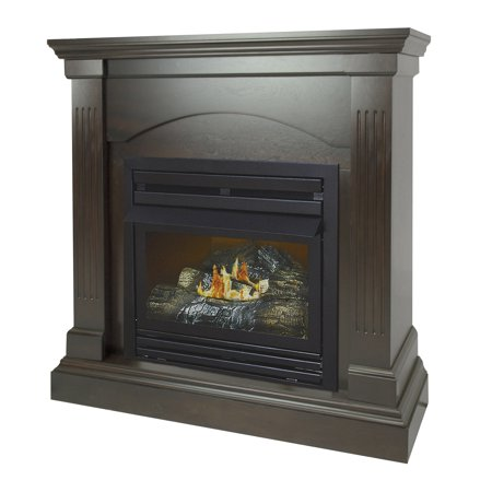- Pleasant Hearth 36 in. Natural Gas Compact Tobacco Vent Free Fireplace System 20,000 BTU