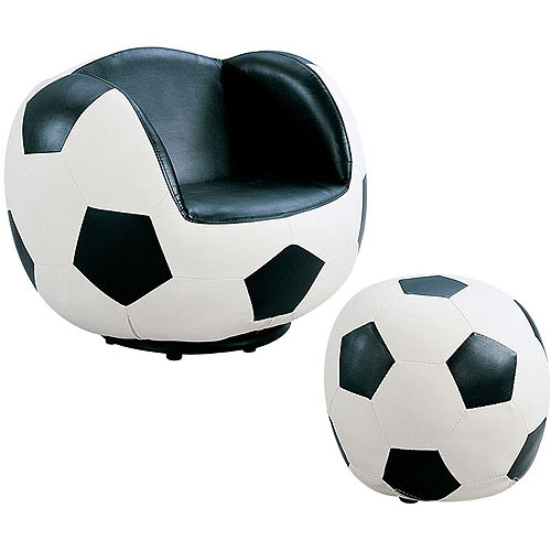 Acme All Star Soccer 2-Piece Chair and Ottoman Set by Acme
