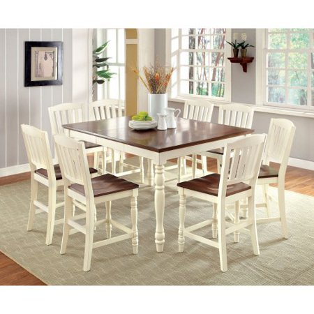 Furniture of America Besette Cottage Counter Height Dining Table