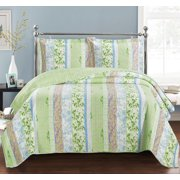 Hayley Oversize Reversible Coverlet Set Wrinkle-Free & Easy Care -Twin/ Twin Xl