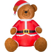 Gemmy Airblown Christmas Inflatables 9' Teddy Bear with Santa Outfit