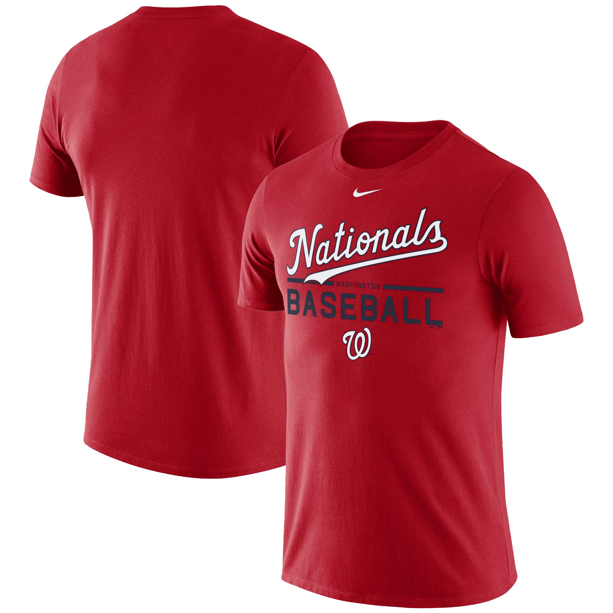 Men's Nike Red Washington Nationals Practice T-Shirt -