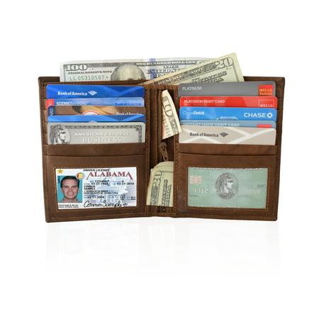 Men 39 s wallet with 2 id windows for 2 id window wallet