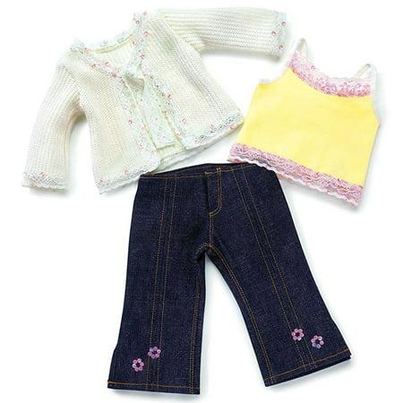 Carpatina Cardigan Sweater, Top and Jeans fits 18