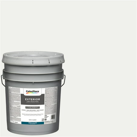 Colorplace Exterior Paint White Semi Gloss 5 Gallon