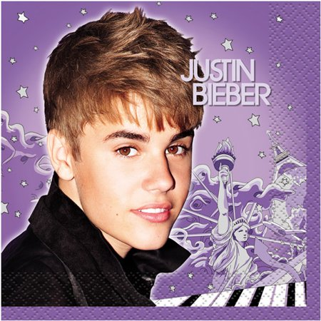Justin Bieber New Small Napkins (16ct) - Justin Bieber Fan Halloween Costumes