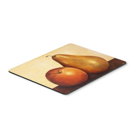 Apple Mouse Mat - Apple and Pear Mouse Pad, Hot Pad or Trivet BABE0089MP
