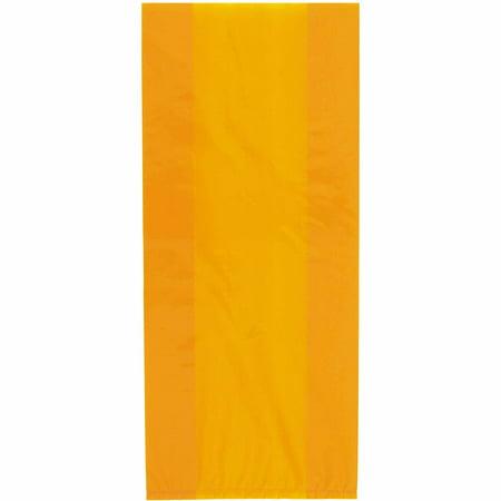 Plastic Cellophane Bags, 11 x 5 in, Orange, 30ct